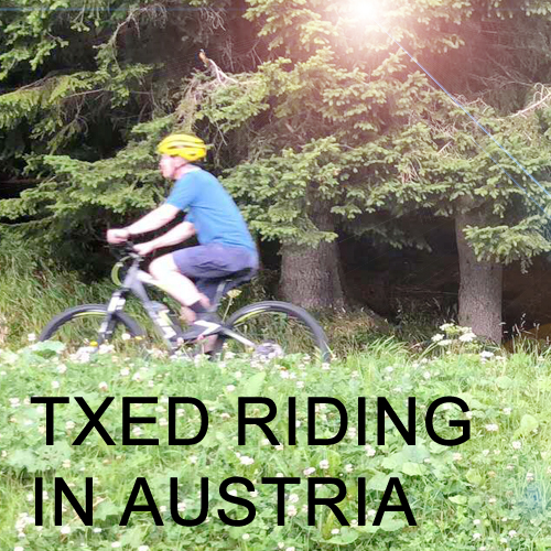 Riding Txed Electric Bike on the Path in Austria